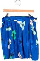 Chloé Girls' Draped Floral Print Skirt