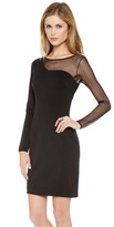 Halston Mesh Layer Sheath Dress