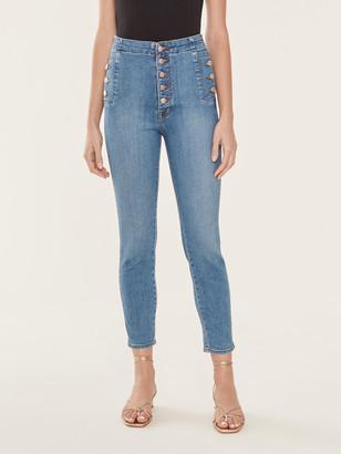 J Brand Natasha Sky High Button Fly Skinny Jeans