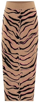 Stella McCartney Tiger-print compact knit pencil skirt