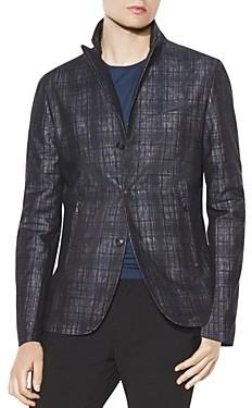 John Varvatos Collection Plaid Slim Fit Peak Lapel Jacket