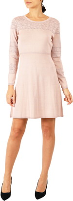 Julia Jordan Long Sleeve Knit A-Line Dress