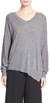 Alexander Wang Women's Asymmetrical Merino Wool V-Neck Sweater