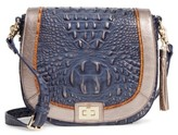 Brahmin Andesite Lucca Sonny Leather Crossbody Bag - Blue