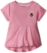 True Religion Glitter Stripe Peplum T-Shirt Girl's T Shirt