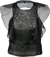 Alberta Ferretti backless organza top - women - Silk - 38