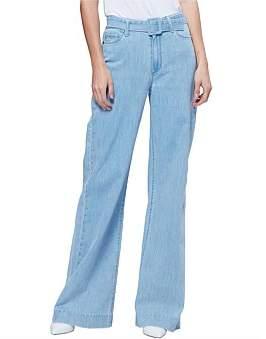 Paige Sutton Wide Leg Jean With Belt