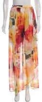 Alice + Olivia Watercolor Print Maxi Skirt