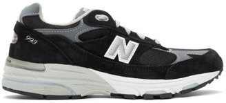 New Balance Black and Grey Made In US 993 Sneakers