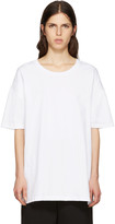 Y's White All Needles Big T-Shirt