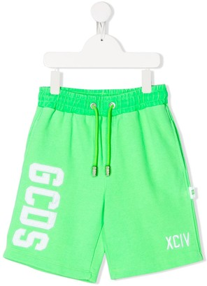 Gcds Kids Embroidered Logo Track Shorts