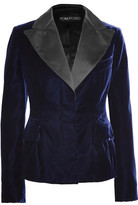 Tom Ford Satin-Trimmed Velvet Blazer