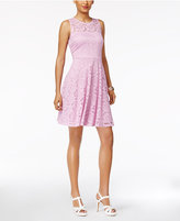 Thalia Sodi Lace Fit and Flare Dress, Created for Macy's