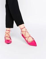 Asos LYRIC Lace Up Ballet Flats