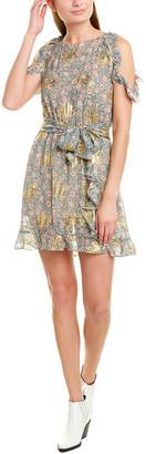 The Kooples Silk-Blend A-Line Dress