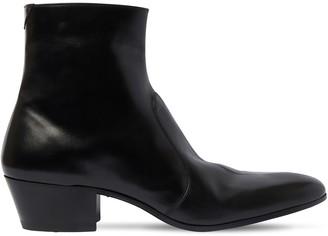 Saint Laurent 45mm Cole Zip-Up Leather Boots