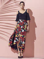 New York & Co. Wrap-Front Maxi Skirt - Floral