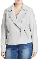 Bagatelle Plus Faux Leather Moto Jacket
