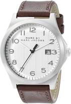 Marc Jacobs Marc by Men's MBM5045 Jimmy Stainless Steel Watch with Brown Leather Band