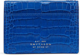 Smythson Mara Crocodile-embossed Leather Business And Credit Card Case