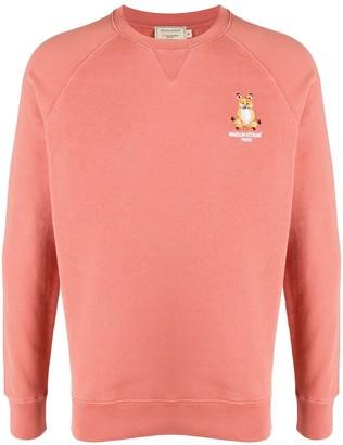MAISON KITSUNÉ Fox-Embroidered Raglan Sweatshirt