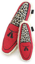 Harry Barker Leopard Slipper Canvas Small Dog Toy