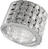 Macy's Balissima by EFFY Woven Diamond Ring (1/3 ct. t.w.) in Sterling Silver