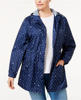 Charter Club Plus Size Printed Packable Anorak, Only at Macy's