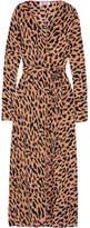 Diane von Furstenberg Leopard-print Silk Crepe De Chine Wrap Dress - Camel
