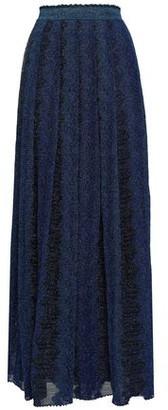 Missoni Pleated Metallic Crochet-knit Maxi Skirt