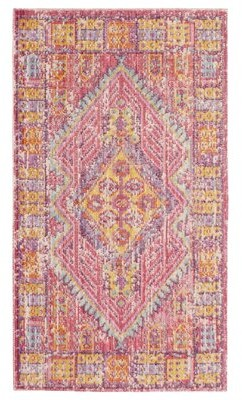 """French Connection Oriental Handmade Kilim Red/Yellow Area Rug Rug Size: Rectangle 2'3"""" x 3'10"""""""