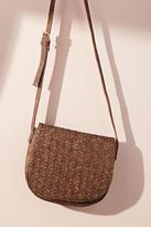 Anthropologie Reade Woven Saddle Bag