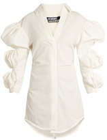 Jacquemus Puff-sleeve cotton mini shirtdress