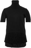 No.21 No. 21 Short Sleeve Turtleneck Sweater