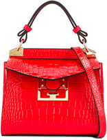 Givenchy Mini Mystic Embossed Croc Bag in Red | FWRD