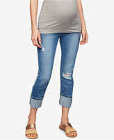 A Pea in the Pod Joe's Maternity Light Wash Cuffed Skinny Jeans