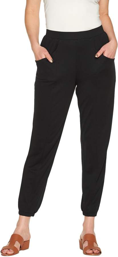 Halston H By H by Petite Ankle Length Jogger Pants w/ Seam Detail