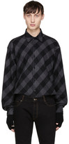 John Lawrence Sullivan Johnlawrencesullivan Black & Grey Check Shirt