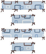 JoJo Designs Sweet Geo Blue Collection Crib Bumper