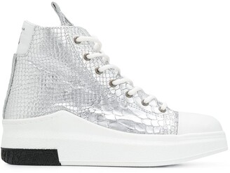 Cinzia Araia Snakeskin Effect High Top Sneakers