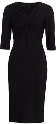 Escada Drehlessa Twist Sheath Dress
