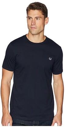 Fred Perry Ringer T-Shirt (Navy) Men's T Shirt