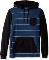 RVCA Men's Set up Hooded Shirt, Multi, XL