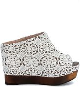 Jeffrey Campbell Sabot Virgo In Ivory Crochet Lace