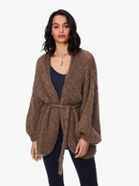 Maiami Mohair Oversized V Cardigan - Brown