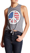 Chaser Triblend Tie Front Muscle Tank