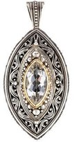 Konstantino Two Tone Quartz Engraved Pendant