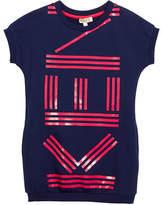 Kenzo Short-Sleeve Logo Dress, Size 14-16