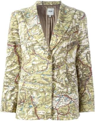 Moschino Pre-Owned map print blazer