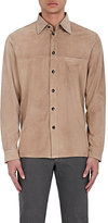 Luciano Barbera MEN'S SUEDE LONG-SLEEVE SHIRT